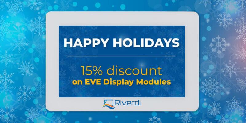 riverdi holiday discount banner
