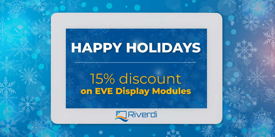 riverdi holiday discount banner