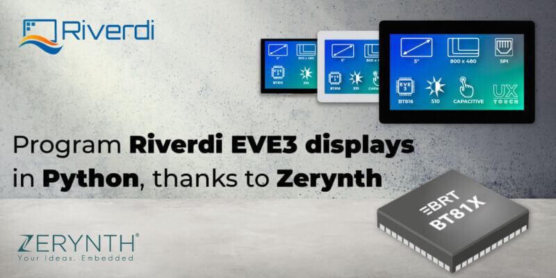 Zerynth and Riverdi Python programmable displays