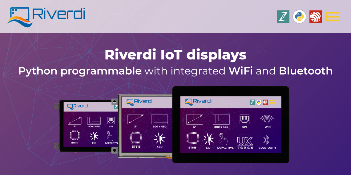 Riverdi IoT display post banner