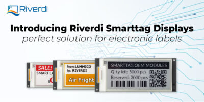 Riverdi e-paper display smart label post banner