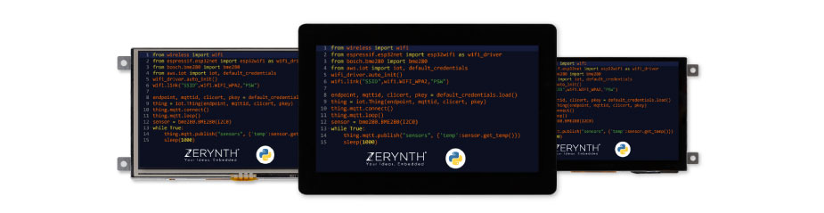 Riverdi IoT displays - Python programmable with integrated