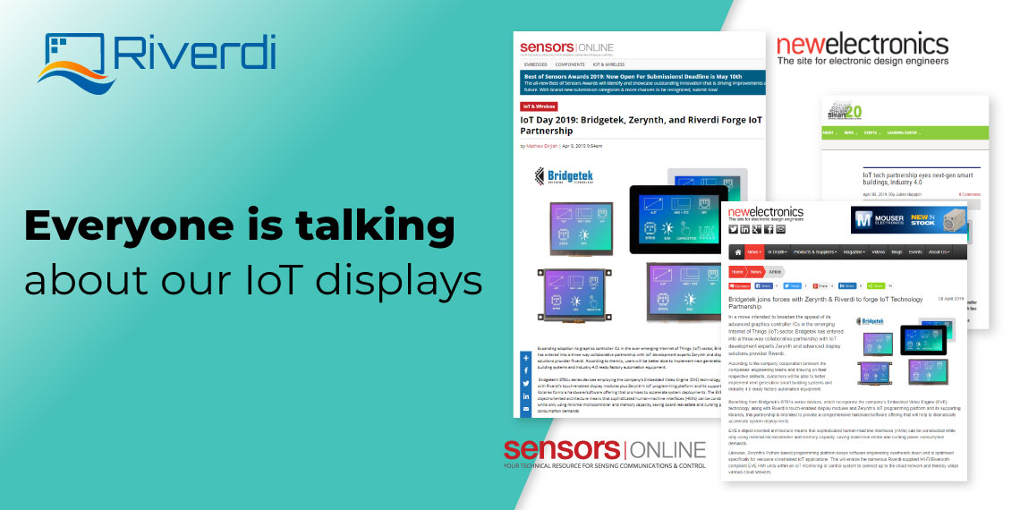 Riverdi IoT displays post banner