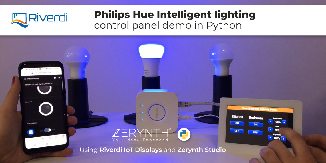 Philips Hue light demo Riverdi Python Zerynth