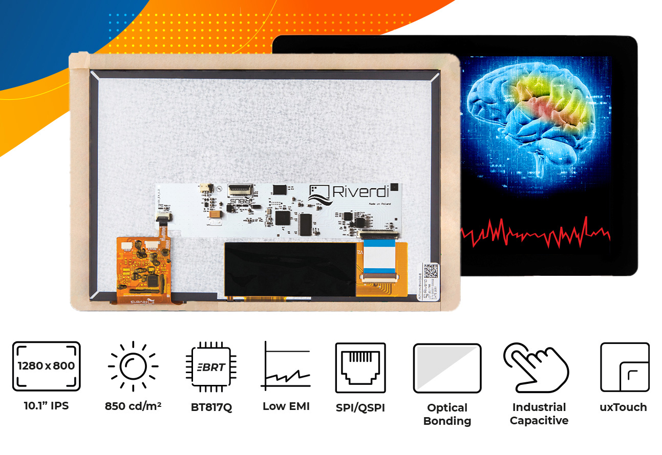 """Eve4 10.1"""" series Optical bonding touch screen display"""