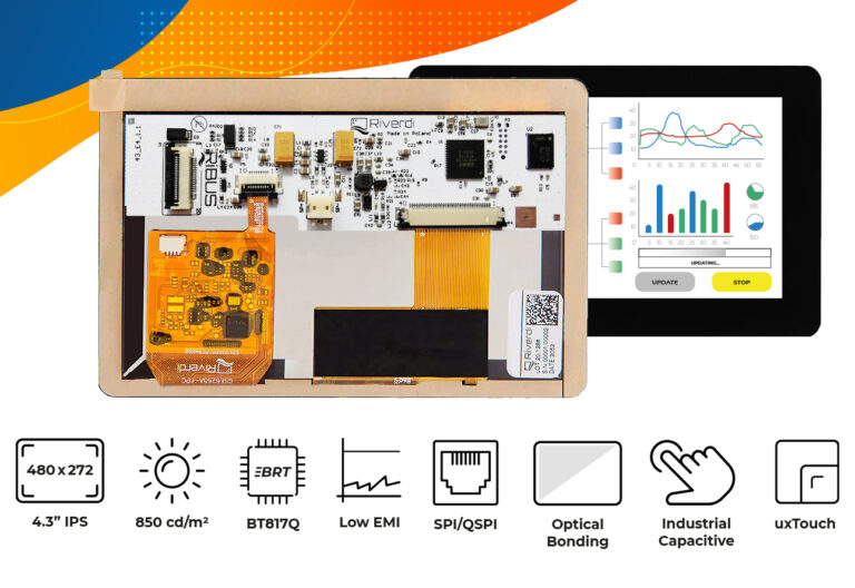 """Eve4 4.3"""" series Optical bonding touch screen display"""