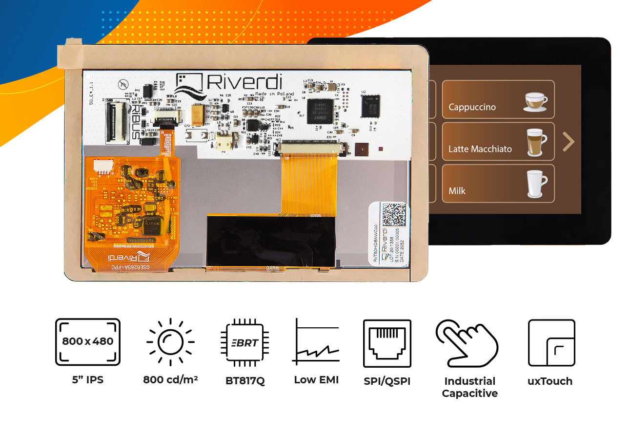 """Eve4 5"""" series touch screen display"""