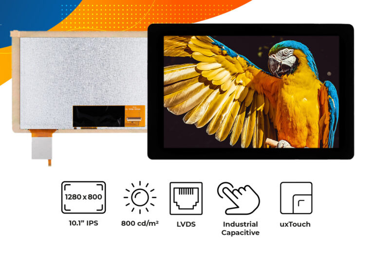 """High brightness IPS 10.1"""" Touch Screen display"""
