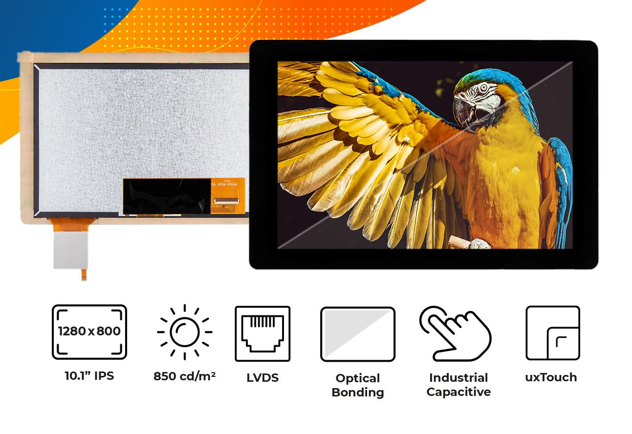 "High brightness IPS 10.1"" Optical Bonding Touch Screen display"