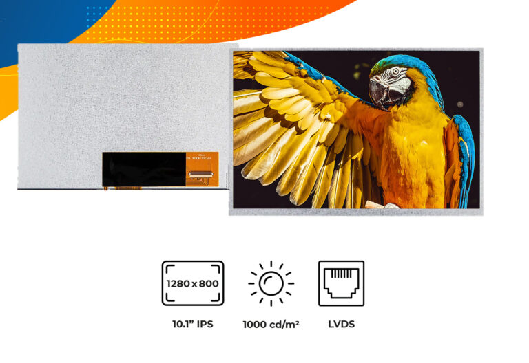 "High brightness IPS 10.1"" no frame display"