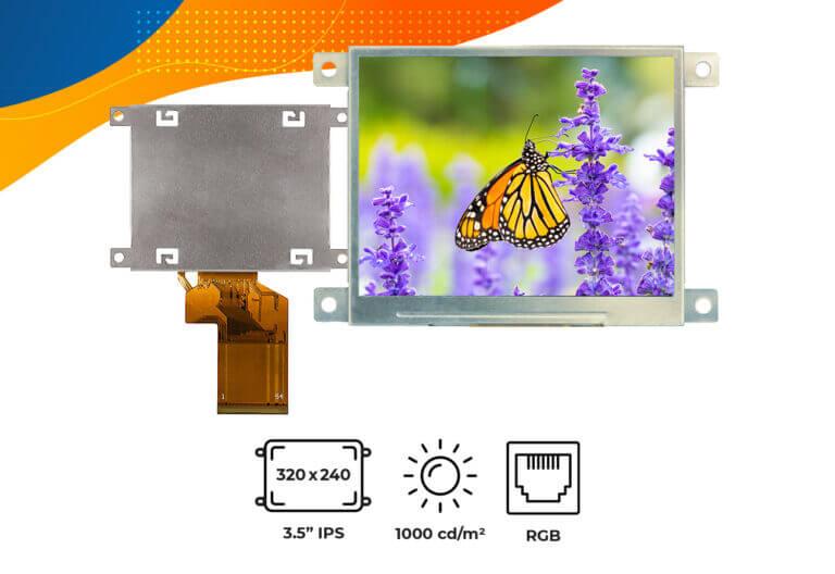 "High brightness IPS 3.5"" frame display"