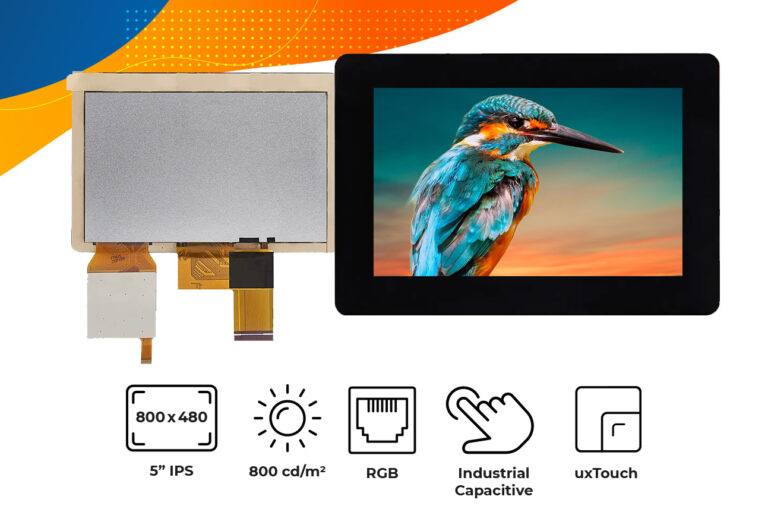 """High brightness IPS 5"""" touch screen display"""
