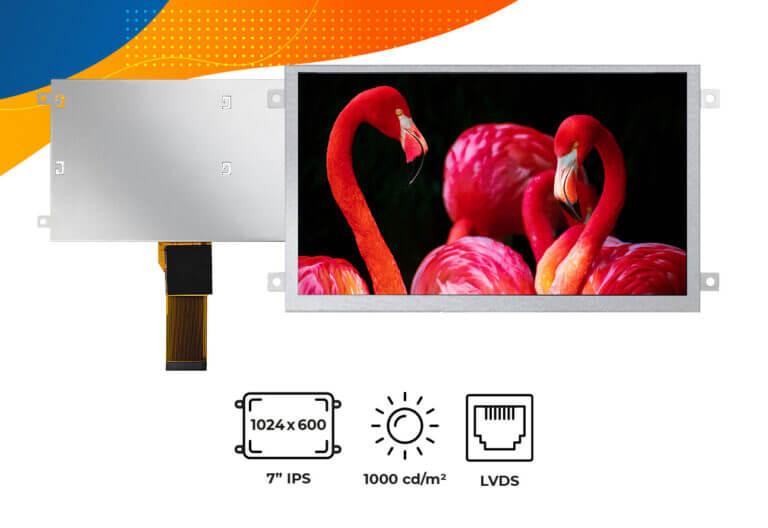 "High brightness IPS 7"" frame display"